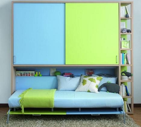 habitaciones infantiles a todo color azul