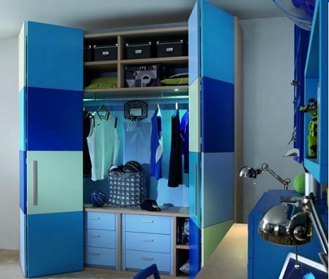 habitaciones infantiles a todo color azules