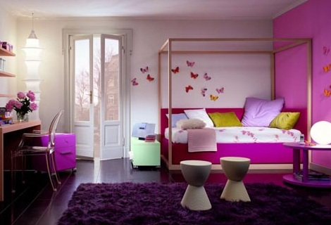 habitaciones infantiles a todo color rosa