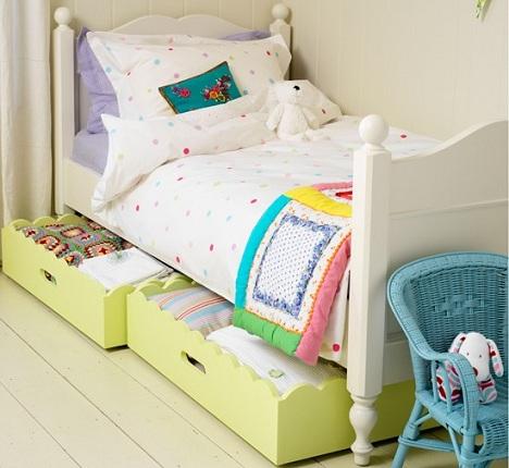 habitaciones infantiles practicas cajones