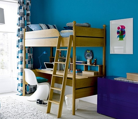 Ideas pr cticas para habitaciones infantiles - Literas con escritorio debajo ...