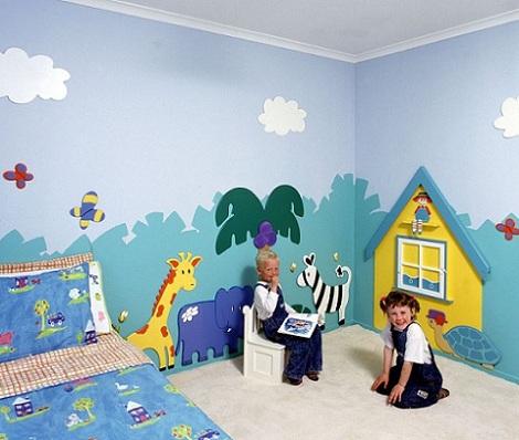 5 murales para una habitaci n infantil for Murales y vinilos infantiles