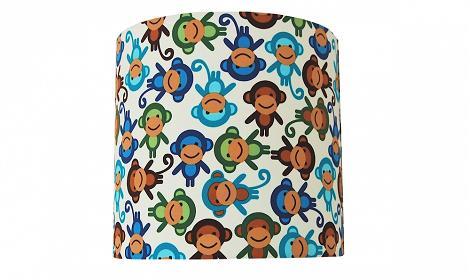Pantalla de lámpara de monos