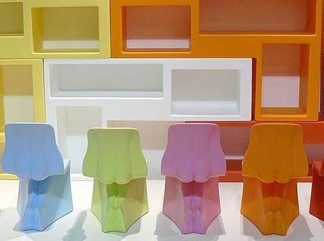 sillas para ninos divertidas colores