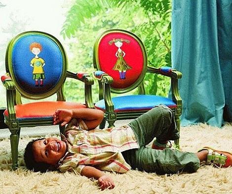 sillas para ninos divertidas dibujos