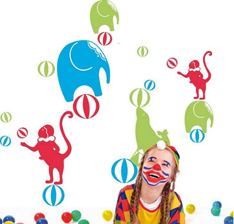 Vinilo infantil circo