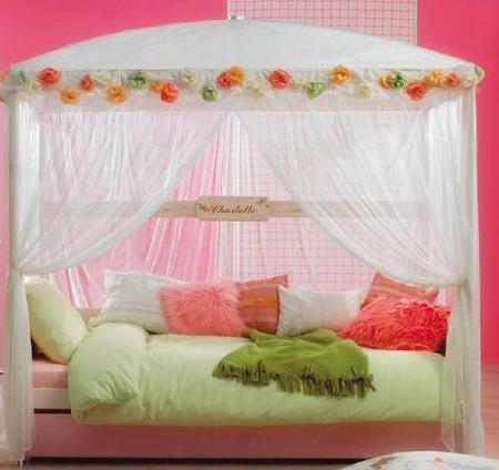 cama de princesa cortinas transparentes
