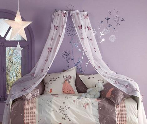 cama dosel nina lila