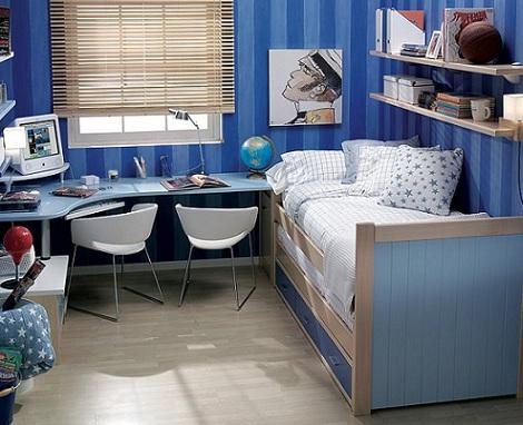 cortinas habitaciones juveniles chico veneciana