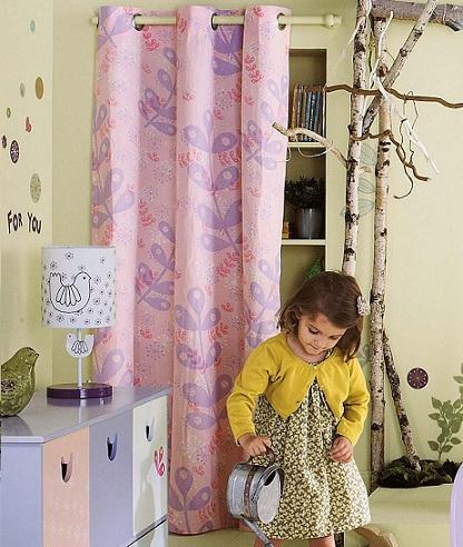 cortinas ninos rosa