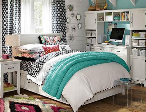 Dormitorio para chica turquesa