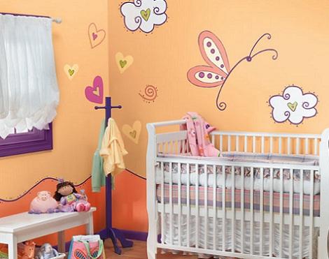 fotos habitaciones bebe colores