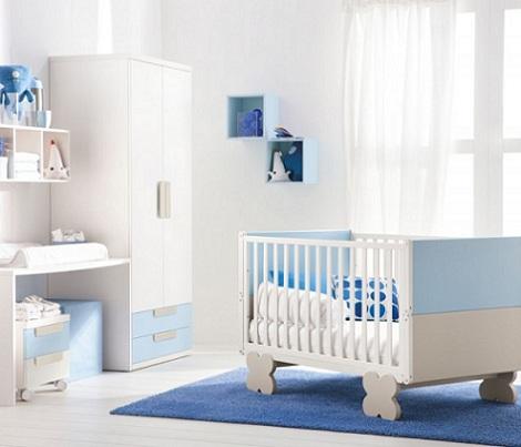 Habitaci n del beb blanca - Decoracion dormitorio infantil nino ...