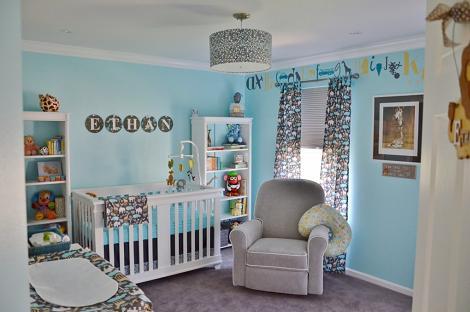 Habitación de bebé color azul