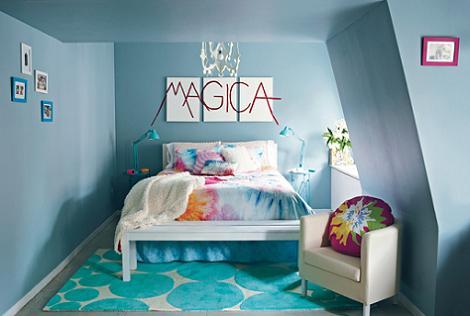 Habitación chica azul