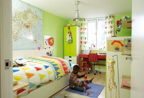 Habitación verde de Ikea