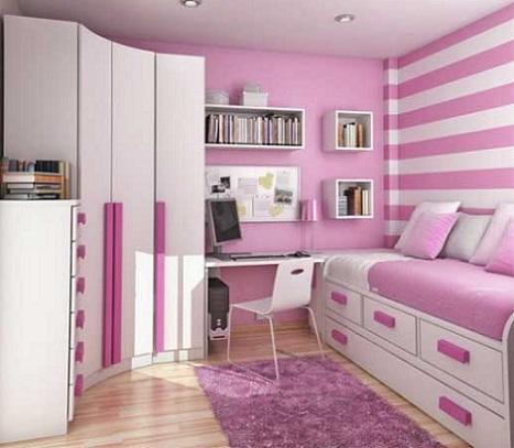 habitaciones juveniles chica rosa