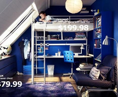 habitaciones juveniles chico literas ikea