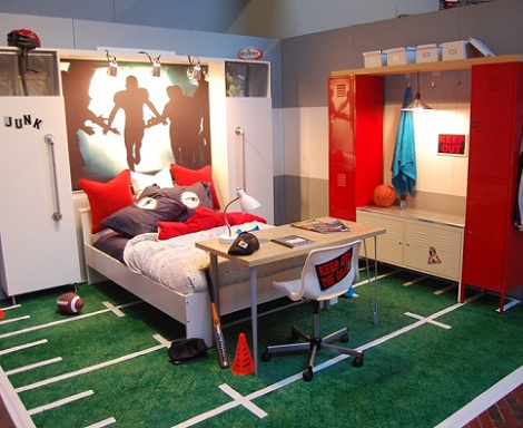 Habitaciones juveniles para chicos for Boys football bedroom ideas