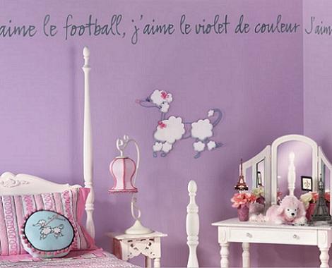 inspiracion habitacion infantil lila