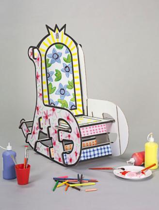 pintar sillas carton colores