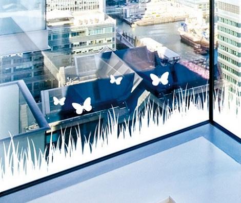 vinilos cristal mariposas