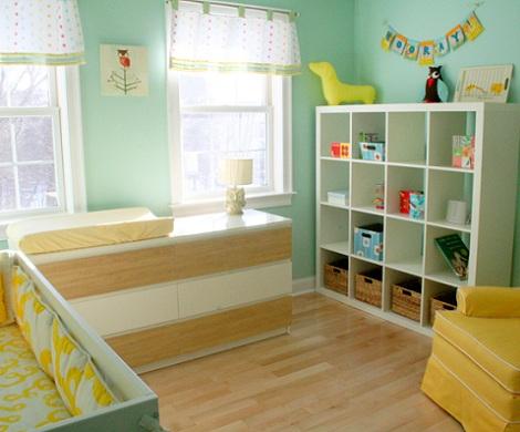 6 ideas para el almacenaje en la habitaci n del beb - Estanterias para bebes ...