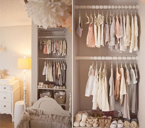almacenaje habitacin bebe pared