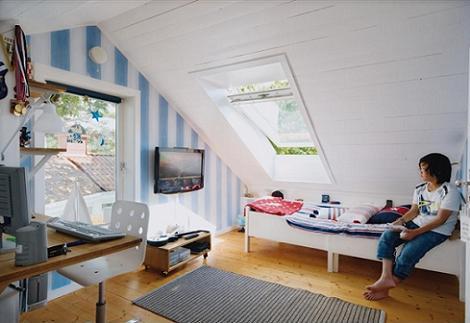 Dormitorio en el ático