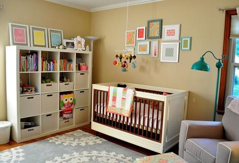 Dormitorio de bebé beige