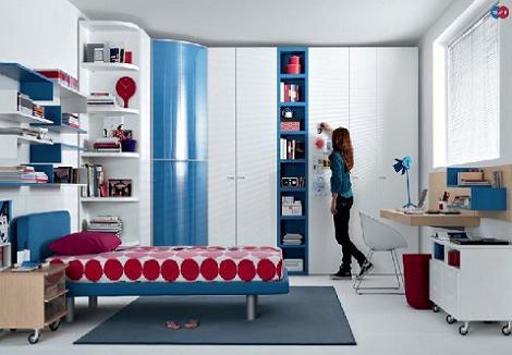 Dormitorio juvenil almacenaje