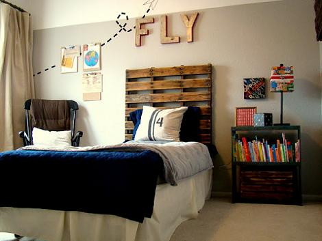 Dormitorio vintage para niño