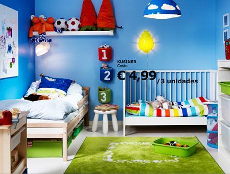Habitación azul Ikea