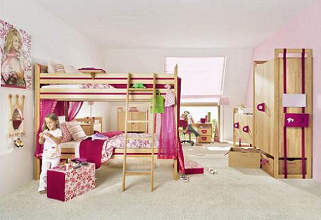 Habitación compartida rosa