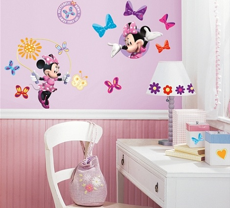 habitacion minnie mouse vinilo