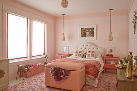 Habitación rosa vintage