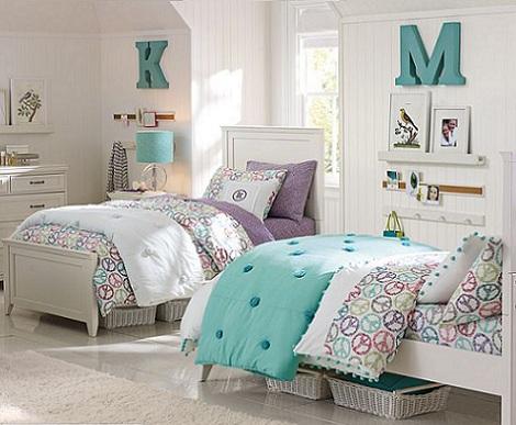 Habitaciones de chicas - Habitaciones de dos camas juveniles ...