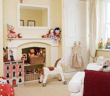ideas decorar habitacion nina chimenea