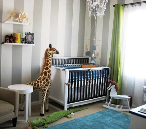 Papel habitaci n del beb de rayas - Papel pintado habitacion bebe ...