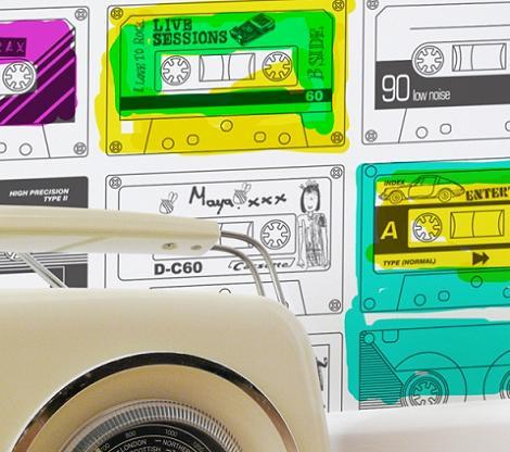 Papel pintado de música
