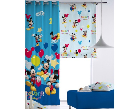 cortinas infantiles disney mickey mouse