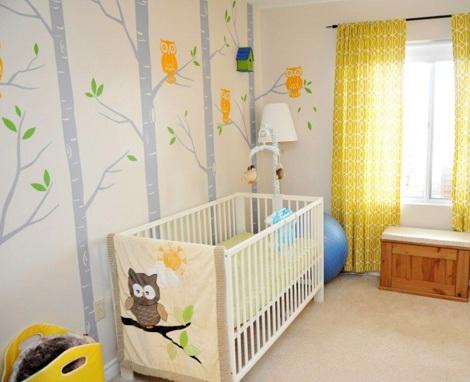 decorar habitación bebé moderna selva
