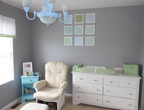 Dormitorio de colores de bebé