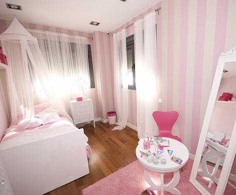 Dormitorio de princesa - Dormitorios pintados a rayas ...