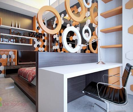 dormitorios juveniles chico geometrico