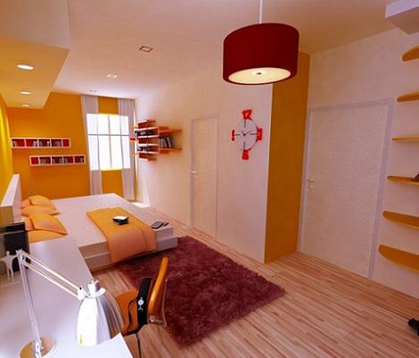 dormitorios juveniles chico naranja