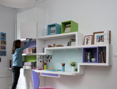 Zona de estudio juvenil for Escritorios para habitaciones juveniles
