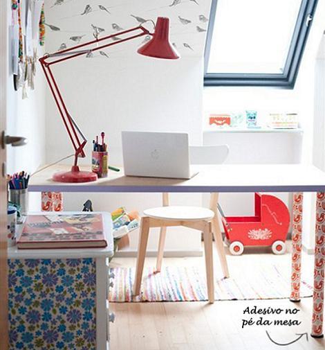 Escritorio en la habitación infantil