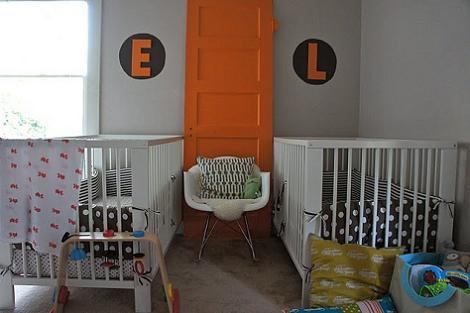 Habitaci n del beb naranja - Habitacion bebe original ...