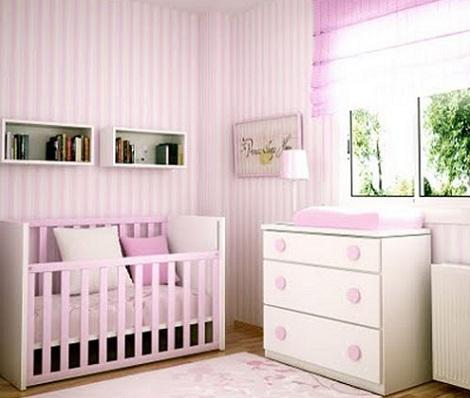 Pin papel pintado habitacion bebe rayas rosa pictures on - Papel pintado habitacion bebe ...